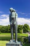 De Regeling van het Vigelandbeeldhouwwerk, Frogner-Park, Oslo, Noorwegen Stock Foto's
