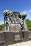 De Regeling van het Vigelandbeeldhouwwerk, Frogner-Park, Oslo, Noorwegen Stock Afbeeldingen