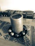 De regeling van kaarsen stock fotografie