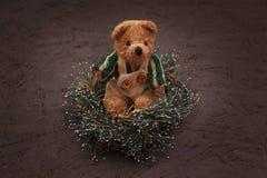 De regeling van Kerstmis met een teddybeer Royalty-vrije Stock Foto's