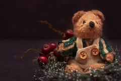 De regeling van Kerstmis met een teddybeer Royalty-vrije Stock Foto