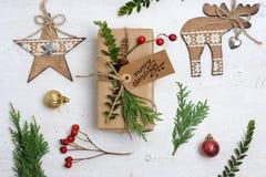 De regeling van Kerstmispunten Stock Fotografie