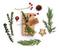 De regeling van Kerstmispunten Royalty-vrije Stock Foto