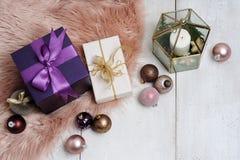 De regeling van Kerstmispunten Royalty-vrije Stock Afbeeldingen