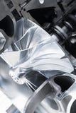 De regelingsclose-up van de turbocompressorstructuur royalty-vrije stock afbeelding