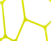 De regelmatige geometrische gele en witte achtergrond van de stoffentextuur, doekpatroon Stock Foto's