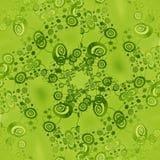 De regelmatige ingewikkelde groene kalk van het spiralenpatroon en gecentreerd donkergroen Royalty-vrije Illustratie