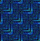 De regelmatige zwarte blauwe turkooise diagonaal groene olijf van het zigzagpatroon Royalty-vrije Stock Fotografie