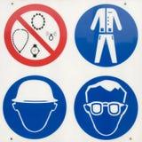 De regels van de veiligheid Stock Foto's