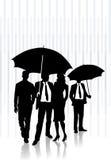 In de regen Vector Illustratie