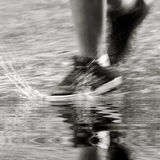 In de regen Stock Foto
