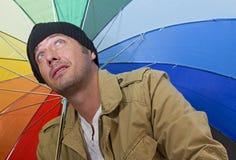 De regen komt Stock Afbeelding