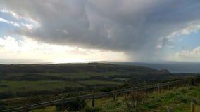De regen komt Stock Foto's