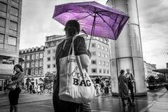 De regen komt aan royalty-vrije stock afbeeldingen