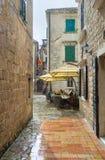De regen in stad Stock Afbeeldingen