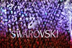 DE REGEN SWAROVSKI VAN HET KRISTAL Stock Foto's