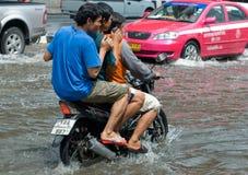 De regen van de moesson in Bangkok, Thailand stock afbeelding