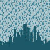 De regen van de stad Stock Afbeeldingen