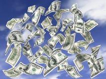 De regen van dollars Stock Afbeeldingen