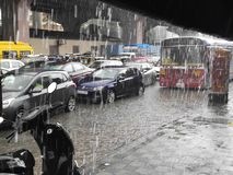 De regen van de regen gaat weg stock afbeelding
