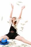 De regen van het geld Stock Afbeeldingen