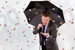 De regen van het geld Royalty-vrije Stock Foto