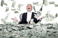 De regen van het geld stock fotografie