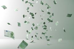 De regen van het geld Vliegend geld vector illustratie