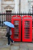De regen van Londen Stock Afbeelding
