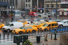 De regen van New York Stock Afbeeldingen