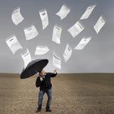 De regen van rekeningen. Stock Foto's