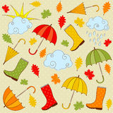 De regenachtige herfst Royalty-vrije Stock Afbeelding