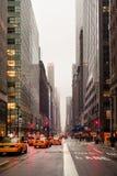 De regenachtige Stad van New York Stock Afbeelding