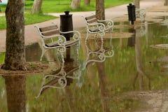 De regenachtige zomer Stock Foto's