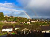 De regenboog in Exeter Royalty-vrije Stock Fotografie