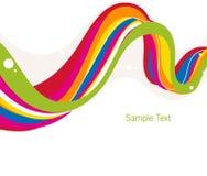 De regenboog kleurt achtergrond Stock Foto