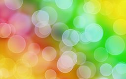 De regenboog kleurt achtergrond met bokeh vector illustratie