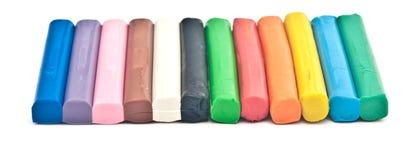 De regenboog kleurt over plasticineplasticine modelleringsklei Royalty-vrije Stock Fotografie