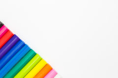 De regenboog kleurt plasticineklei Royalty-vrije Stock Foto's