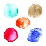 De regenboog kleurt verfcirkels, vectorreeks Royalty-vrije Stock Foto's
