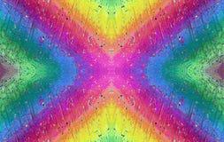 De regenboog in micro- wereld royalty-vrije stock afbeelding