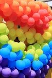 De Regenboog van de ballon Stock Afbeeldingen