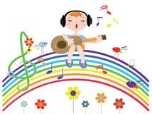 De regenboog van de muziek royalty-vrije illustratie