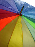 De Regenboog van de paraplu Stock Afbeeldingen