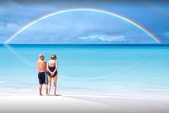 De regenboog van de pensionering Stock Foto