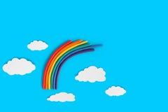 De Regenboog van de plasticine Stock Foto