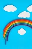 De Regenboog van de plasticine Royalty-vrije Stock Afbeelding