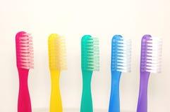 De regenboog van de tandenborstel Stock Foto