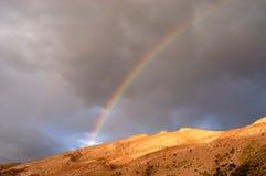 De regenboog van de woestijn Royalty-vrije Stock Afbeeldingen