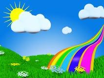 De regenboog van de zomer Royalty-vrije Stock Fotografie